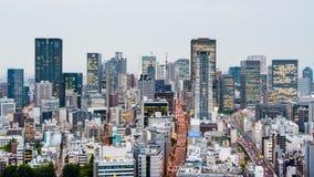 Paisaje urbano de la noche de Osaka, Japón almacen de metraje de vídeo
