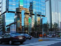 Paisaje urbano de la oscuridad Imágenes de archivo libres de regalías