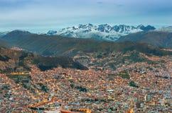 Paisaje urbano de La Paz, Bolivia Imagen de archivo libre de regalías