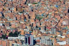 Paisaje urbano de La Paz, Bolivia Fotos de archivo