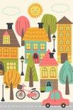 Paisaje urbano de la pequeña ciudad libre illustration