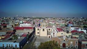 Paisaje urbano de la visión aérea de Cholula