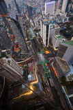Paisaje urbano de la visión superior Fotos de archivo