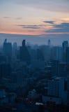 Paisaje urbano de la zona del negocio en Bangkok, Tailandia Fotos de archivo