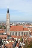 Paisaje urbano de Landshut Fotos de archivo