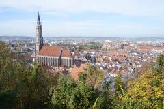 Paisaje urbano de Landshut Foto de archivo libre de regalías
