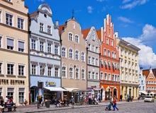 Paisaje urbano de Landshut Imagenes de archivo