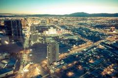 Paisaje urbano de Las Vegas Fotografía de archivo