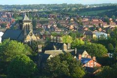 Paisaje urbano de Leeds Imágenes de archivo libres de regalías