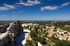 Paisaje urbano de Les Baux De Provence Imagen de archivo