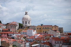 Paisaje urbano de Lisboa, Portugal Foto de archivo