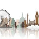 Paisaje urbano de Londres Imágenes de archivo libres de regalías