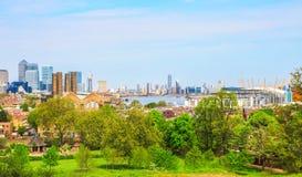 Paisaje urbano de Londres de Greenwich foto de archivo