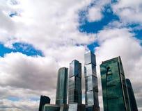 Paisaje urbano de los rascacielos Foto de archivo libre de regalías