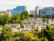 Paisaje urbano de Luxemburgo Fotografía de archivo