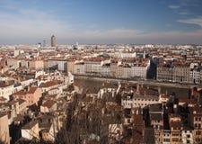 Paisaje urbano de Lyon - Francia Fotos de archivo libres de regalías