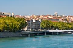 Paisaje urbano de Lyon. Francia foto de archivo