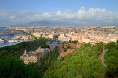 Paisaje urbano de Málaga Fotografía de archivo