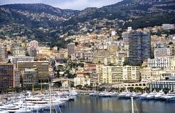 Paisaje urbano de Mónaco Foto de archivo libre de regalías