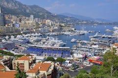 Paisaje urbano de Mónaco Imagenes de archivo