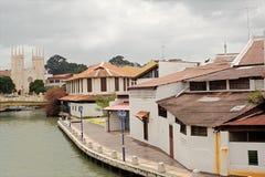 Paisaje urbano de Malacca Fotografía de archivo libre de regalías
