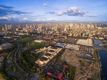 Paisaje urbano de Manila filipinas Paisaje urbano hermoso fotos de archivo