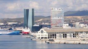 Paisaje urbano de Marsella, Francia almacen de video