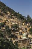 Paisaje urbano de Masuleh, pueblo viejo en Irán Foto de archivo