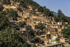 Paisaje urbano de Masuleh, pueblo viejo en Irán Fotos de archivo libres de regalías