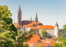 Paisaje urbano de Meissen Foto de archivo libre de regalías