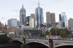 Paisaje urbano de Melbourne Fotografía de archivo