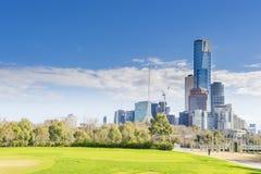 Paisaje urbano de Melbourne céntrica Imágenes de archivo libres de regalías
