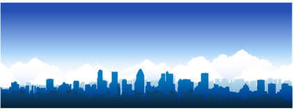 Paisaje urbano de Montreal ilustración del vector