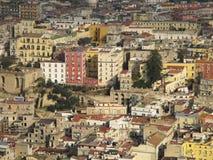 Paisaje urbano de Nápoles Fotografía de archivo libre de regalías