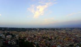 Paisaje urbano de Nápoles Fotos de archivo
