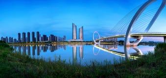 Paisaje urbano de Nanjing, China imágenes de archivo libres de regalías
