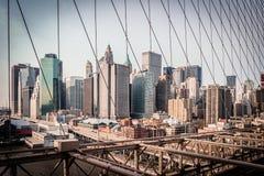 Paisaje urbano de Nueva York Imágenes de archivo libres de regalías