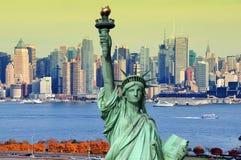 Paisaje urbano de Nueva York, fotografía del concepto del turismo imágenes de archivo libres de regalías