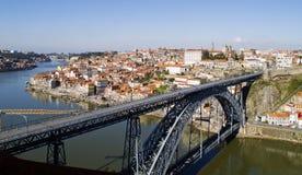 Paisaje urbano de Oporto, Portugal Fotografía de archivo