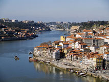 Paisaje urbano de Oporto, Portugal Fotos de archivo libres de regalías