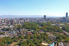 Paisaje urbano de Osaka, Japón Imagen de archivo libre de regalías