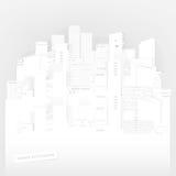 Paisaje urbano de papel Imágenes de archivo libres de regalías