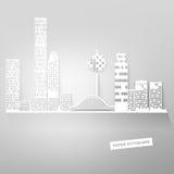 Paisaje urbano de papel Imagenes de archivo