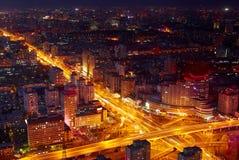 Paisaje urbano de Pekín en la oscuridad Imágenes de archivo libres de regalías