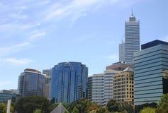 Paisaje urbano de Perth fotos de archivo libres de regalías