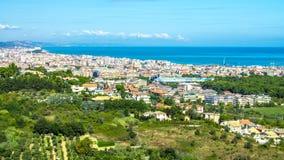 Paisaje urbano de Pescara en Italia imagen de archivo libre de regalías