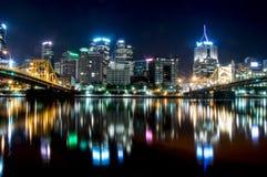 Paisaje urbano de Pittsburg Imagen de archivo