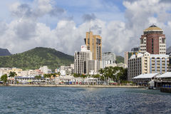 Paisaje urbano de Port Louis, isla Mauricio Fotos de archivo