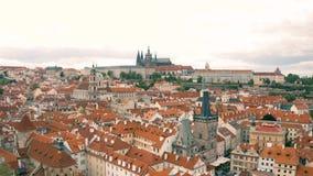 Paisaje urbano de Praga almacen de video