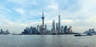 Paisaje urbano de Pudong, Shangai imagenes de archivo
